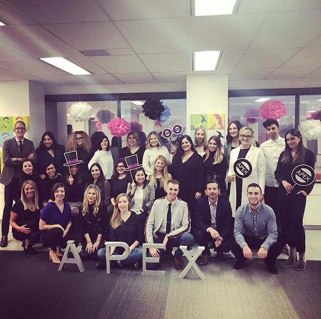 Happy anniversary to @apexpr! It's been a wild 20 years for you. Can't wait to see what the next 20 have in store #Toronto #publicrelations #anniversary #apex20